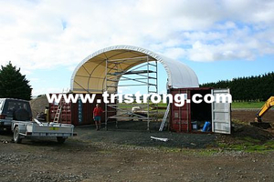 8m Wide Container Shelter, Container Canopy, Tent, Container Cover (TSU-2620C/2640C)