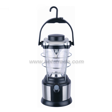 12LEDs Stainless Steel Camping Lantern 4D