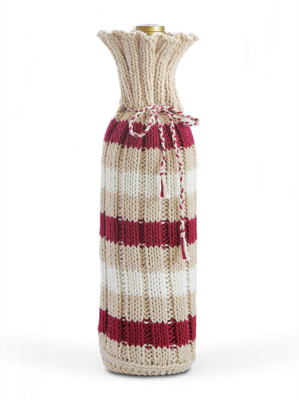 Color Stripes Banding Knit Sweater design wine bottle cover - Buy ...