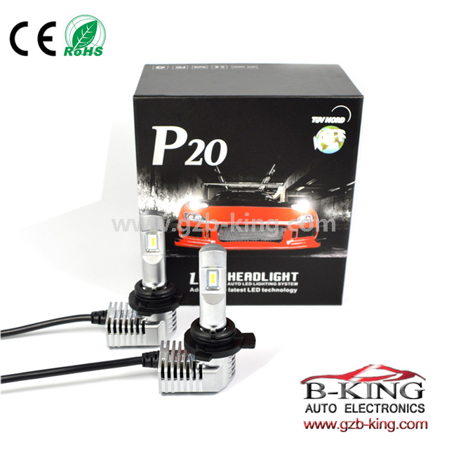 1:1 halogen bulb size P20 40W 5200lm universal 9012 car led headlight with built-in fan( 100% suitable for all cars)