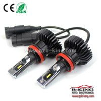 High brightness T6 H11 6000lm 6500K car led headlight