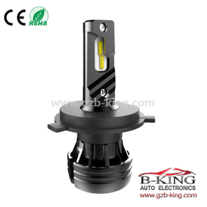 new arrival built-in fan H4 6000lm 56watts 360 degree adjustable car led headlight