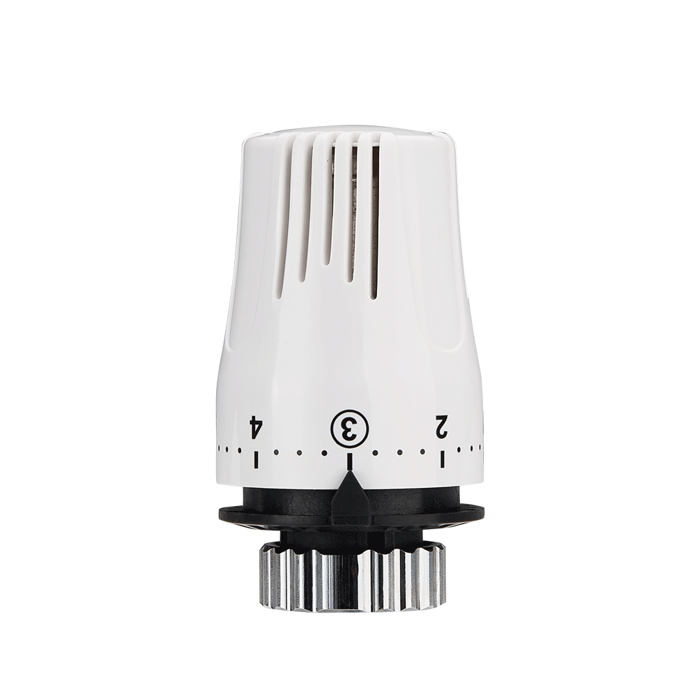 Baiyilun Brass Automatic Card Straight Valve Thermostatic Heating Radiators Valve
