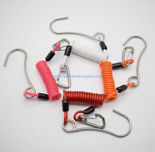 316 SS Reef Single Hook with Spiral Coil Lanyard