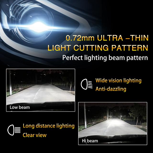 P20 5202 40W 5200lm halogen bulb size car led headlight 11