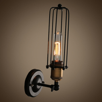 Retro Rustic Cage wall sconce for Cafe Shop LOFT Lighting