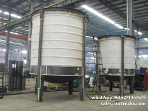 PE tank Reactor steel lined with PE agitated reactor