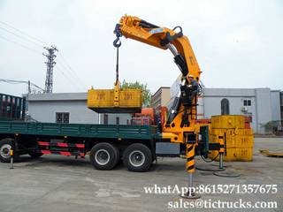 50Tons boom crane mounted cargo truck knuckle boom Euro 3,4 ,5 Custermizing