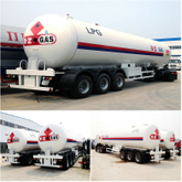 HOT SALE 58.5CBM LPG GAS TANK SEMI TRAILER