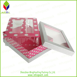Paper Packaging Gift Cosmetic Box with PVC Window