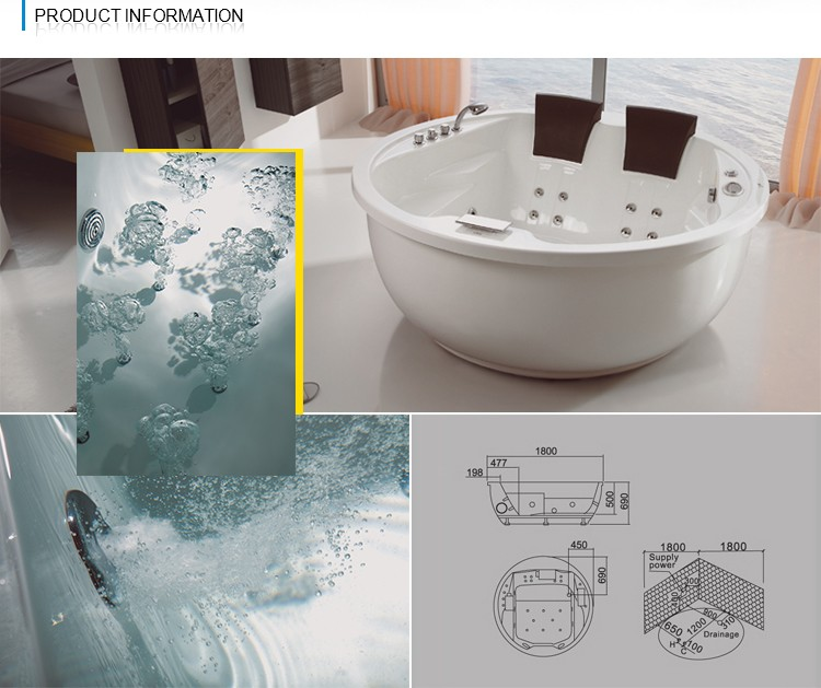 NTH 2017 Chinese new products 2 person soaking tub - Buy Product ...