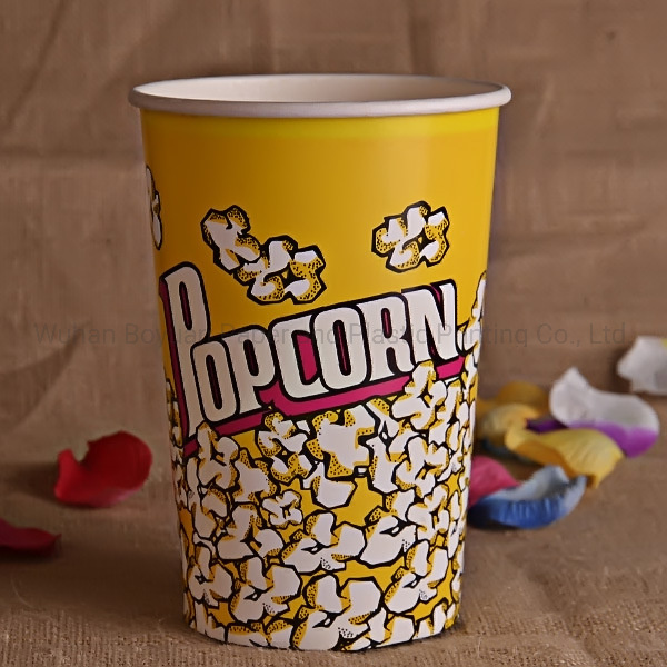 64 OZ Customized Printed Disposable Popcorn Bucket
