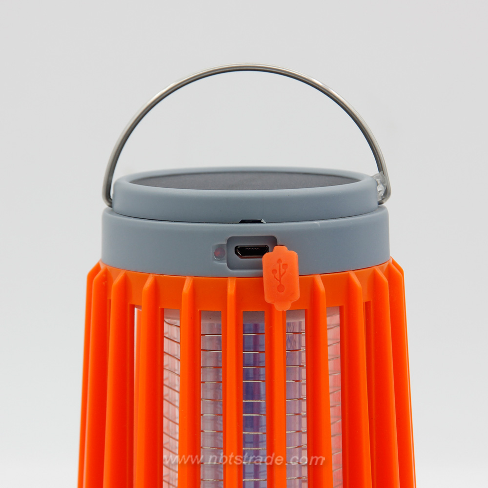 Solar Powered Bug Zapper Outdoor Camping Lantern