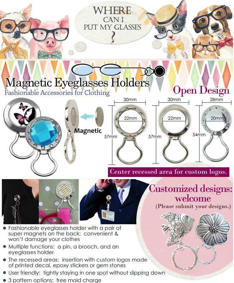 Magnetic Eyeglass Holder Pins