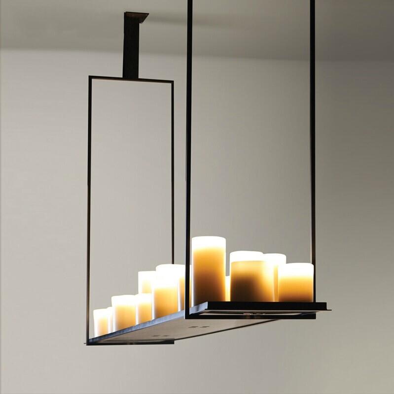 European Style Rectangle Modern Candle Decorative Modern