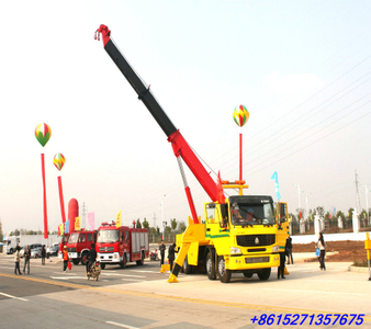 Sino ZZ 50ton heavy duty rotator road wrecker