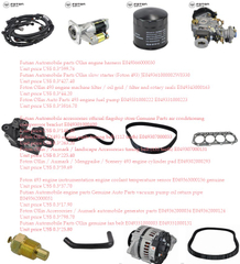 Foton Ollin engine 493 parts price list 1