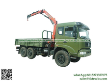 Military Truck Dongfeng 6x6 truck 7.6T.m Palfinger crane