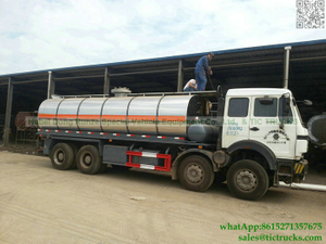 Ammonium nitrate tanker Stainless steel beiben tank truck 22-24m3 for sale