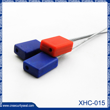 Plastic cable seal metal cable seal