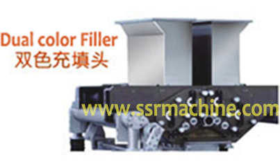 Double Color cookie depositor dual color filler