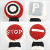 Hand Knitted traffic sign