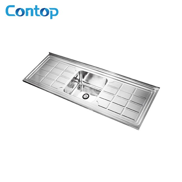 201 Stainless Steel Wash Sink Kitchen Sink Single Bowl with Double ...