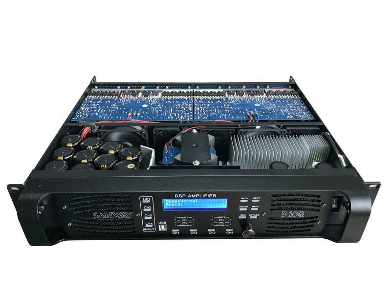 D10Q sound digital DSP power amplifier with Eternet