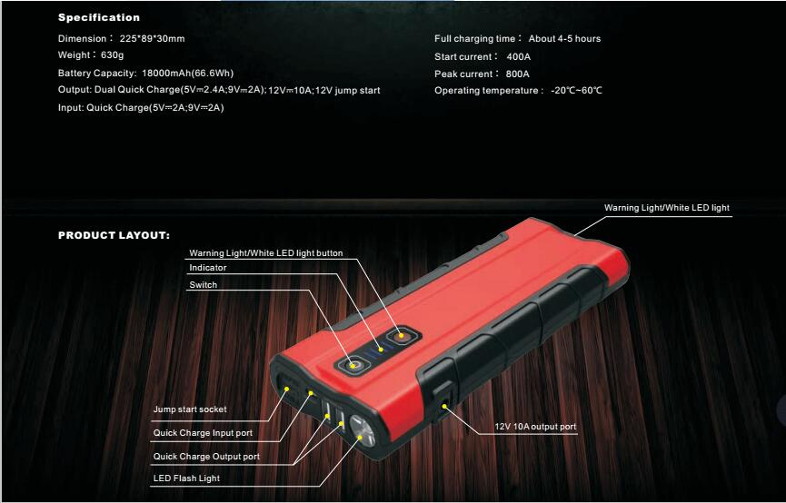 Jump starter from Guangzhou B-KINg Auto Electronics Limited