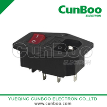 AC-26 industrial socket withj fuse and switch