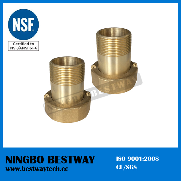 No lead brass water meter connector fittings buy product