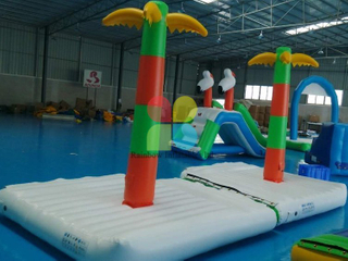 Inflatable Floating island water park games hot sale RB32076