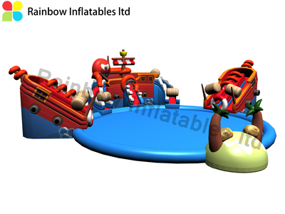 Inflatable land water park for sale Children's Water Park slides for sale RB34006 Dia25m