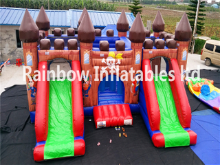 RB2016( 8x6m ) Inflatables Pirate Bouncy Castle With Double Slide For Theme Park