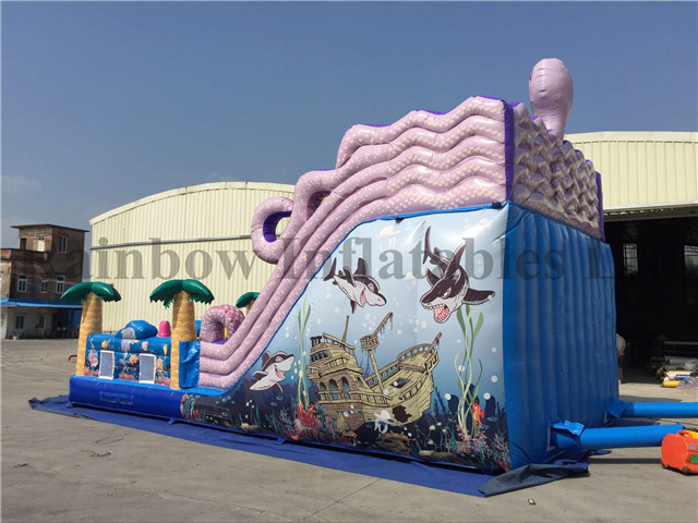 RB8051(9x5x6m) Inflatable Sea World Slide With Cute Animals