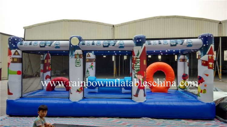 RB91009-1(6.1x2.5x3.2m) Inflatable Undersea Theme Obstacle Course For Children