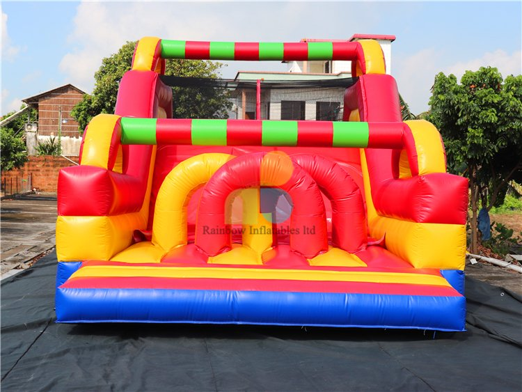 RB5074(10x4m) Inflatable Rainbow Large multifunctional obstacle course