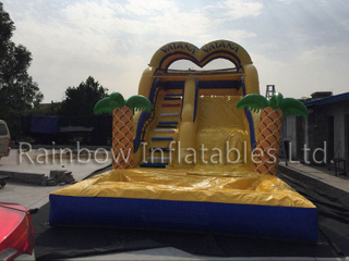 RB6091(8x4x5m) Inflatable The theme of romance Slide, Inflatable Bouncy Slide for Kids