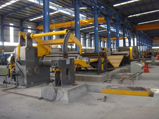 High speed automatic steel straightening machine for cut to length production line