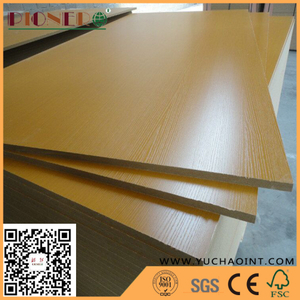 White Color Melamine Laminated MDF for Making Furniture
