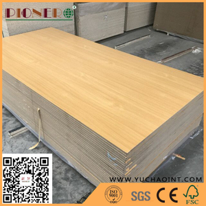 Melamine Wood Grain Colored Wardrobe MDF Board