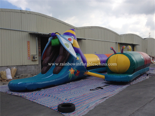 RB12012(20x2.5x4m) Inflatable Giant Butterfly Tunnel Obstacle Course For Sale