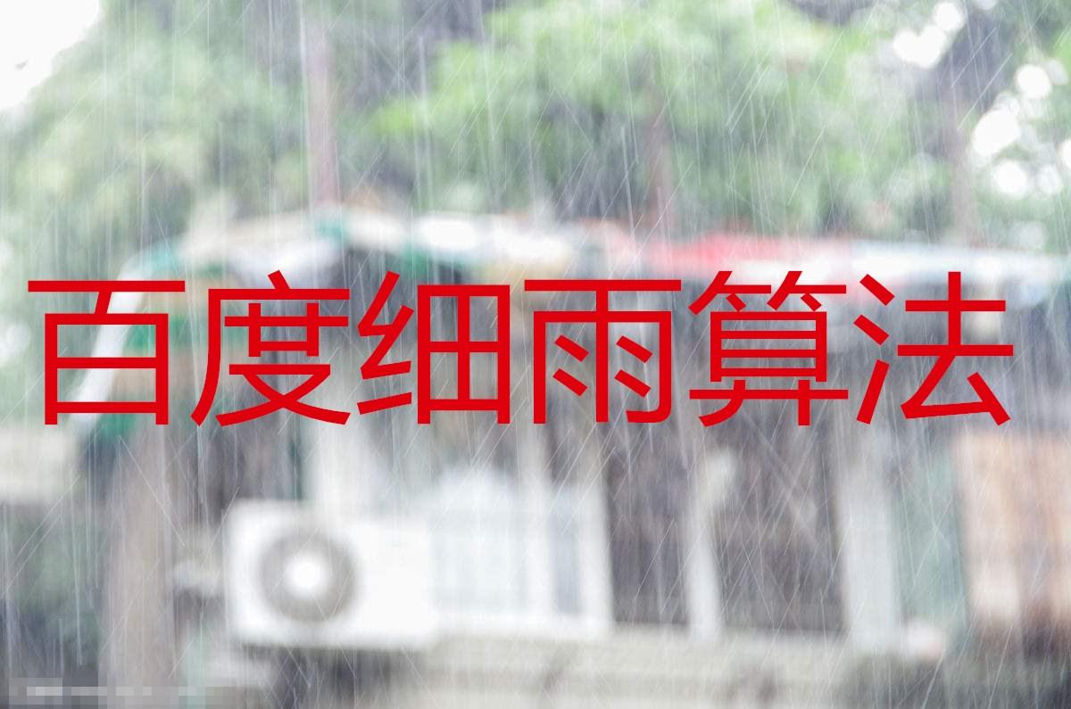 百度细雨算法解读
