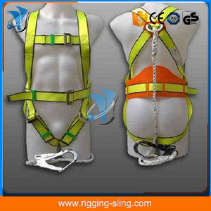 Safety harness belt and rope lanyard