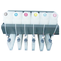 6 ink barrels with 6 ink cartridge without chip Bulk System CISS System for Roland/Mimaki/Mutoh Printer