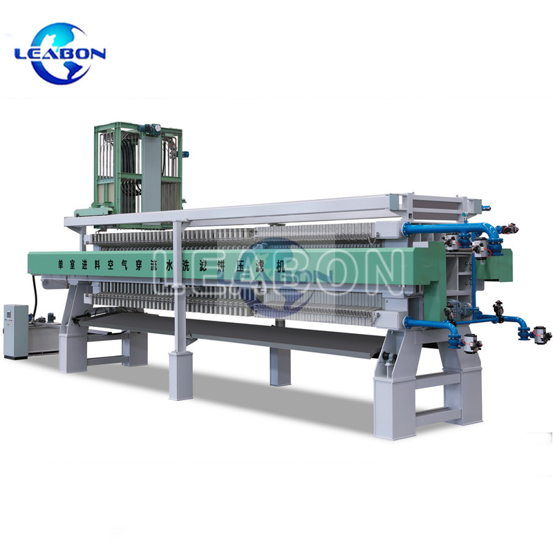 Single Chamber Feeding Air Blowing Cake Washing Filter Press for sand washing slurry treatment