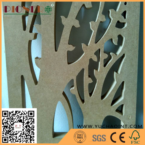 E1 grade plain MDF used for carvig and decoration