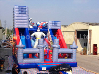 RB6055 (8x6x7m) Inflatable Popular Commercial Super Hero Slide For Kids