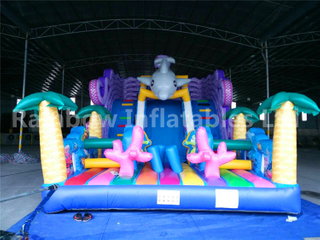 RB06001(9x5x6m) Inflatable Funny Sea World Slide For Amusement