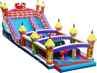 RB5031(5x14x6.5m) Inflatable Mickey Obstacle Course, Inflatable Obstacle with Slide